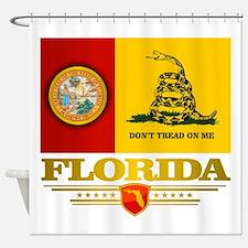 Florida Gadsden Flag Shower Curtain