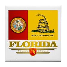 Florida Gadsden Flag Tile Coaster