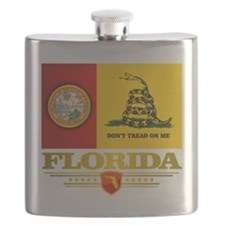 Florida Gadsden Flag Flask