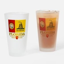Florida Gadsden Flag Drinking Glass