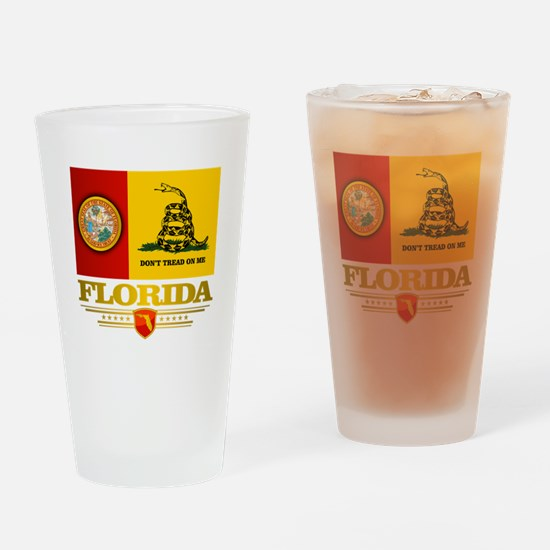 Florida Gadsden Flag Drinking Glass
