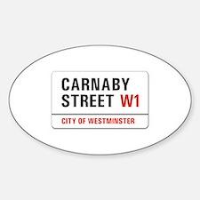 Carnaby Street, London - UK Oval Decal