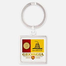 Georgia Gadsden Flag Keychains