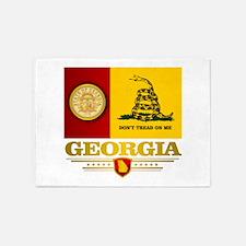 Georgia Gadsden Flag 5'x7'Area Rug
