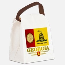Georgia Gadsden Flag Canvas Lunch Bag