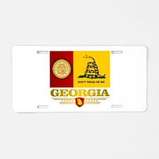 Georgia Gadsden Flag Aluminum License Plate