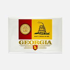 Georgia Gadsden Flag Rectangle Magnet