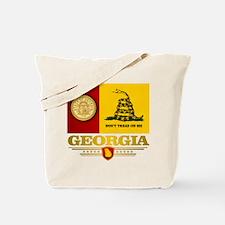 Georgia Gadsden Flag Tote Bag