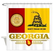 Georgia Gadsden Flag Shower Curtain