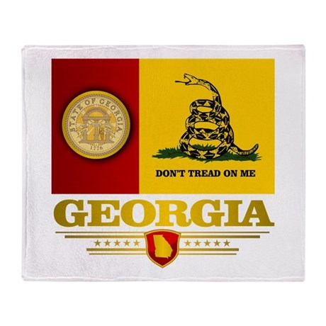 Georgia Gadsden Flag Throw Blanket