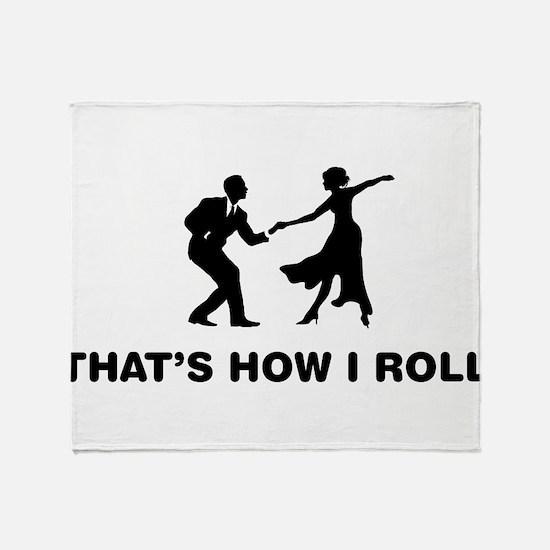 Swing Dancing Throw Blanket