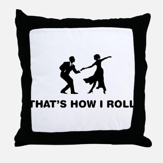 Swing Dancing Throw Pillow