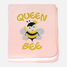 Queen Bee baby blanket