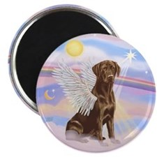 Chocolate Lab Angel Magnet