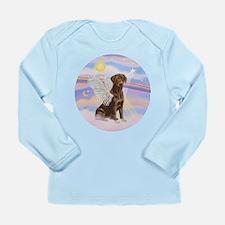 Chocolate Lab Angel Long Sleeve Infant T-Shirt