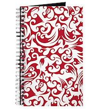 True Red & White Swirls #2 Journal