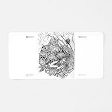 Owl Dream Aluminum License Plate