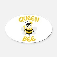 Queen Bee Oval Car Magnet