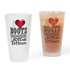 iHeartBoots... Drinking Glass