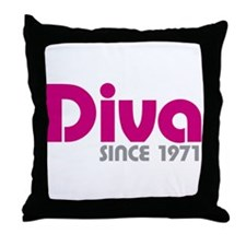 Diva Since 1971 Throw Pillow