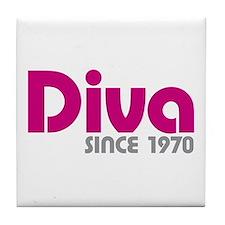 Diva Since 1970 Tile Coaster