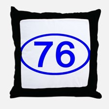Number 76 Oval Throw Pillow