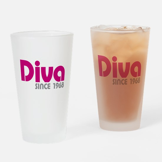 Diva Since 1968 Drinking Glass