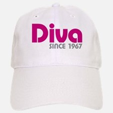 Diva Since 1967 Baseball Baseball Cap