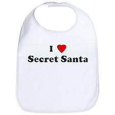I Love Secret Santa Bib
