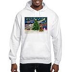 XmasMagic/Cocker (Brn) Hooded Sweatshirt