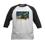 XmasMagic/Cocker (Brn) Kids Baseball Jersey