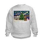 XmasMagic/Cocker (Brn) Kids Sweatshirt