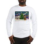 XmasMagic/Cocker (Brn) Long Sleeve T-Shirt