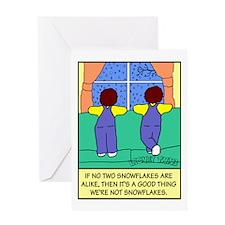Looney Twins Snowflakes Greeting Card