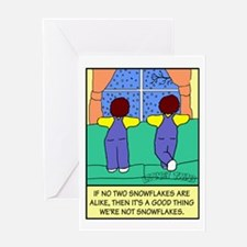 Looney Twins Snowflakes Greeting Card