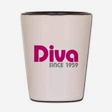 Diva Since 1959 Shot Glass