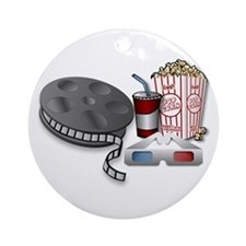 3D Cinema Ornament (Round)