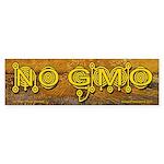 No GMO Crop Circle on Van Gogh Bumper Sticker
