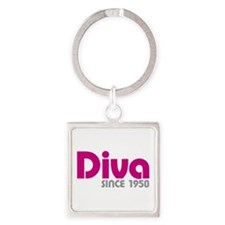 Diva Since 1950 Square Keychain