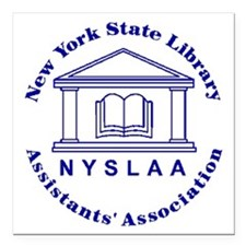 """NYSLAA logo Square Car Magnet 3"""" x 3"""""""