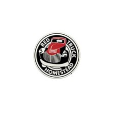 Black&RedSpotLogo Mini Button