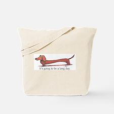 Long Day Dachshund T-Shirt Tote Bag