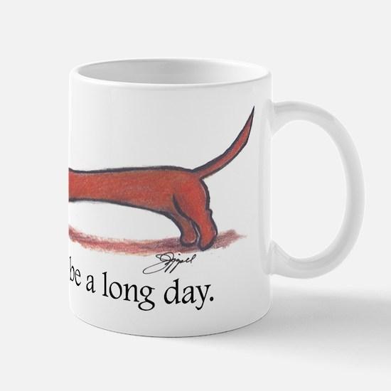 Long Day Dachshund T-Shirt Mug