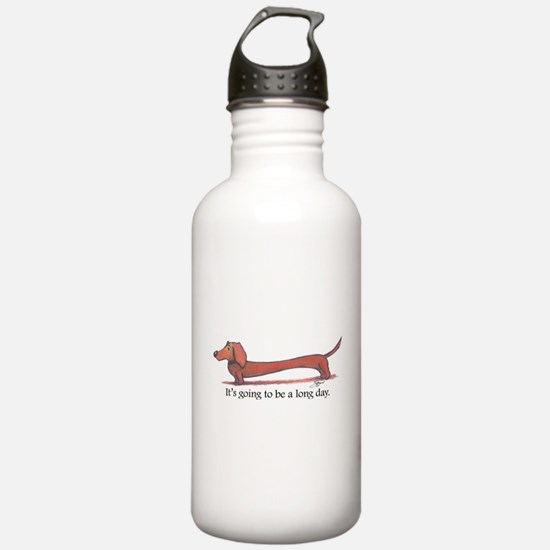 Long Day Dachshund T-Shirt Water Bottle