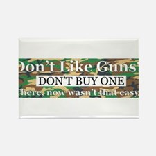Pro Gun Sticker Rectangle Magnet
