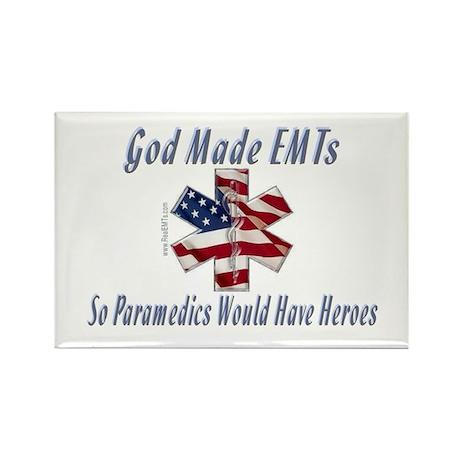 God Made EMTs Rectangle Magnet