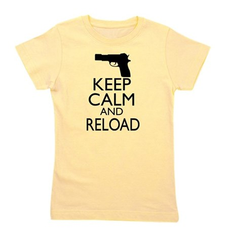 Keep Calm and Reload Girl's Tee