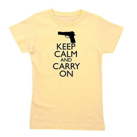 Keep Calm and Carry On Girl's Tee