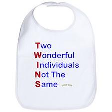 Looney Twins T-W-I-N-S Bib