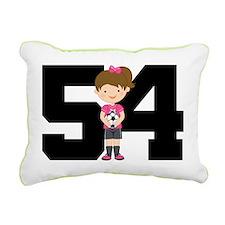 Soccer Sports Number 54 Rectangular Canvas Pillow